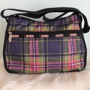 LeSportsac Plaid Nylon Shoulder Bag
